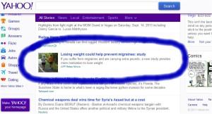 Yahoo! homepage, 09/16/13